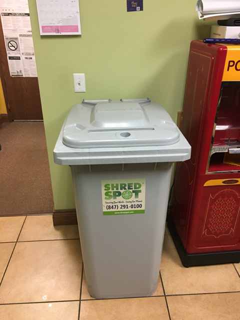 Shred spot paper recycling document destruction and for Document shredding pick up
