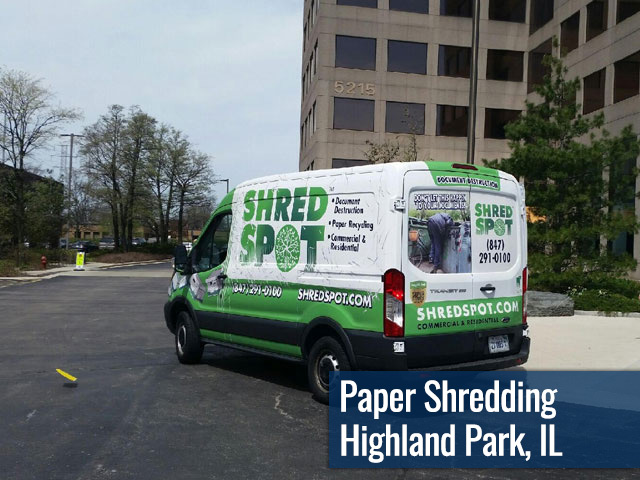 Paper Shredding & Document Destruction in Highland Park, IL by Shred Spot