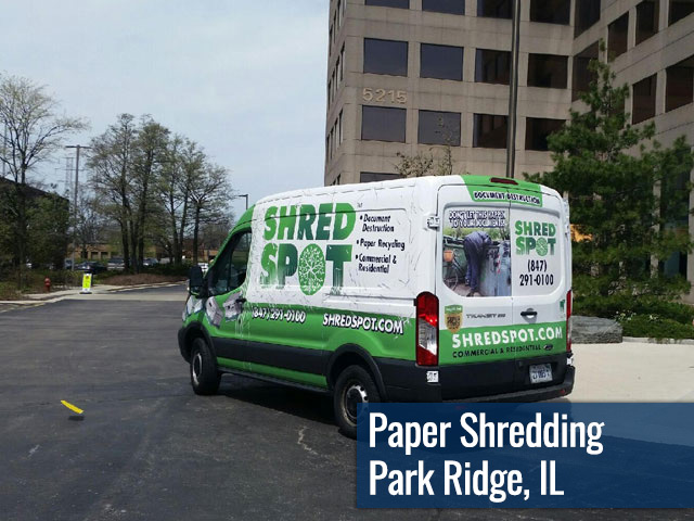 Paper Shredding & Document Destruction in Park Ridge, IL by Shred Spot