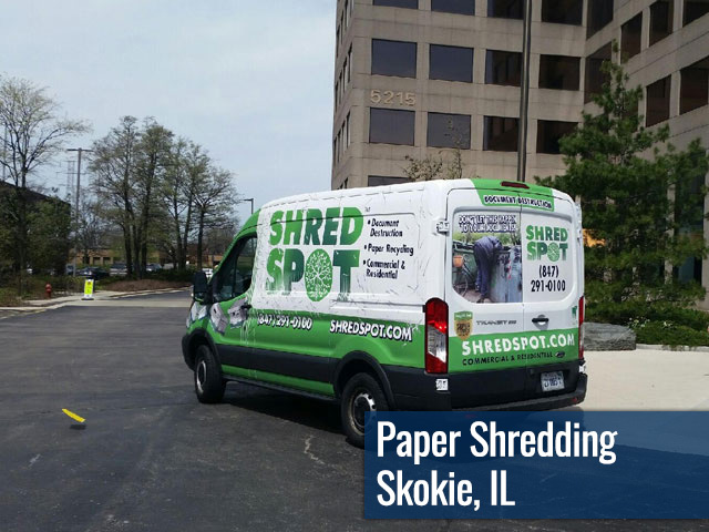 Paper Shredding & Document Destruction in Skokie, IL by Shred Spot